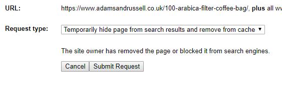 Google Remove URLs