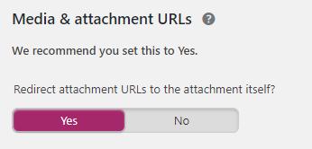 Yoast Attachments Settings