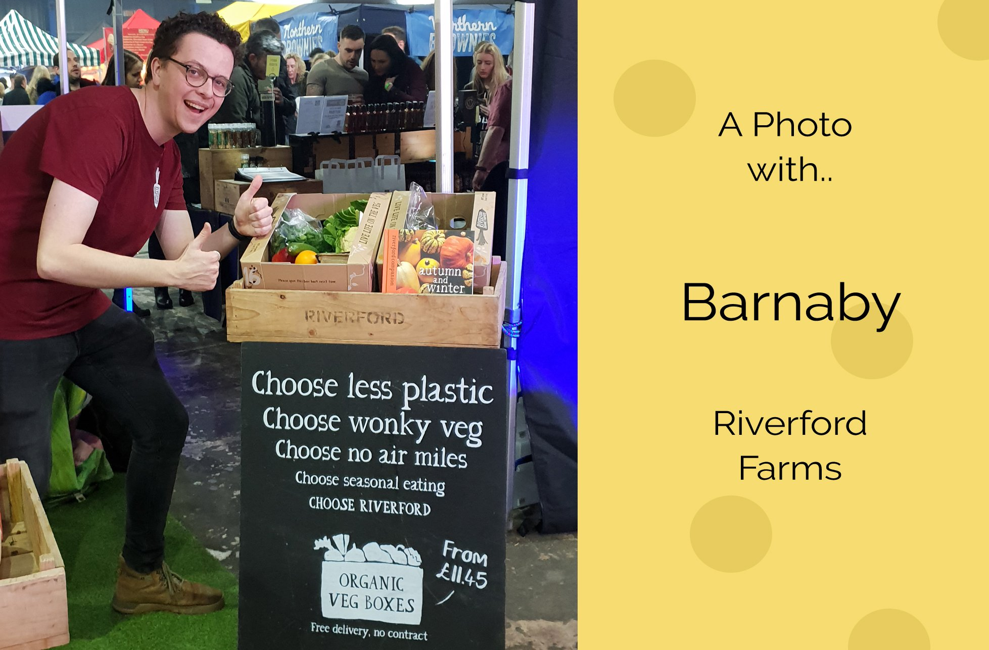 barnaby at Riverford Farms