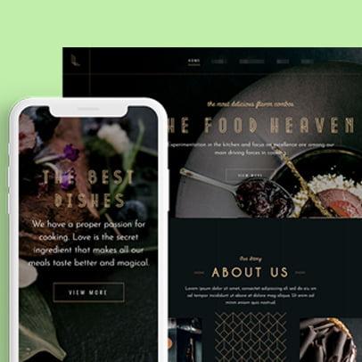 Restaurant Web Design Content