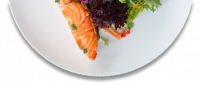 Salmon plate Above